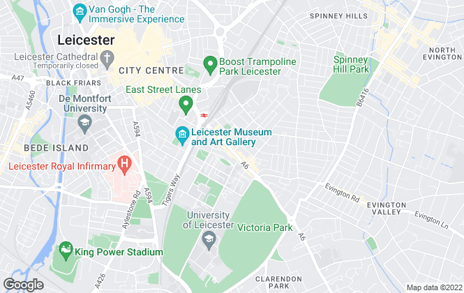 Map for Parmars, Leicester