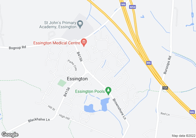 Map for Hough Way, Essington, Wolverhampton WV11