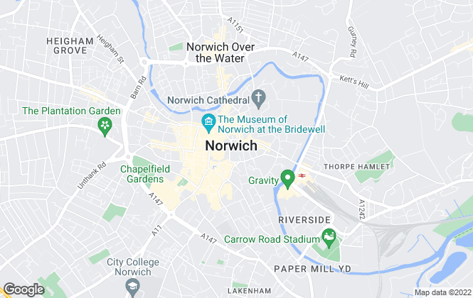 Map for Savills, Norwich