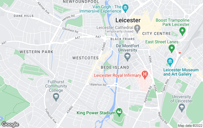Map for Leicester Lettings, Leicester