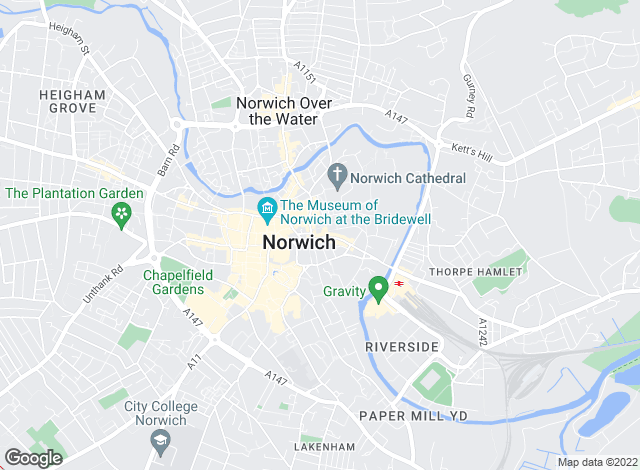 Map for Arnolds Keys, Norwich