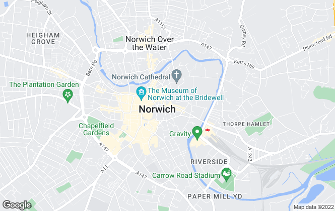 Map for Link Up Properties, Norwich