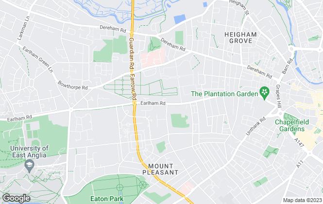Map for Premier Properties, Norwich