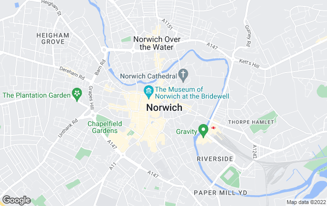 Map for BMA Estates, Norwich