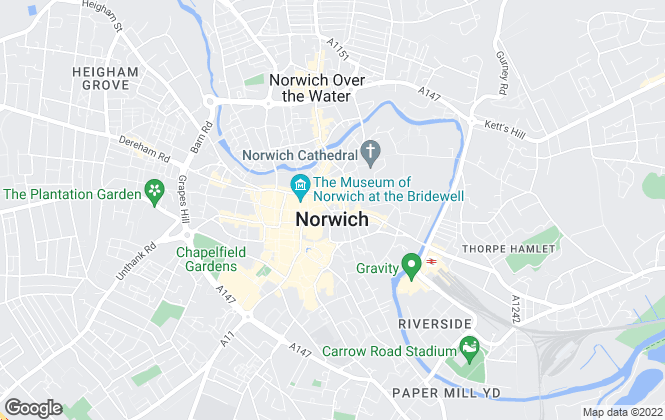 Map for William H. Brown - Lettings, Norwich  Lettings