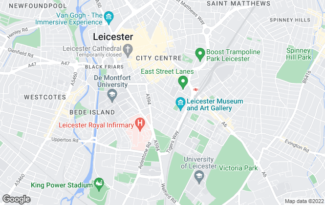 Map for Sky Blue Homes, Leicester