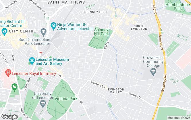Map for Jalaram Estates, Leicester