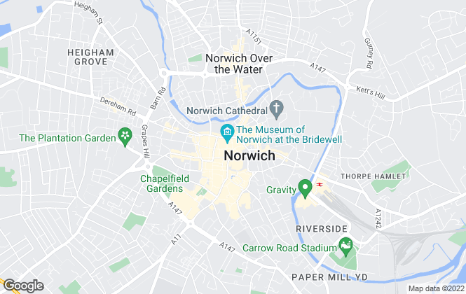 Map for Savills New Homes, Norwich