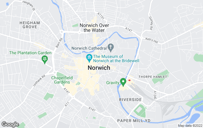 Map for Strutt & Parker - Lettings, Norwich