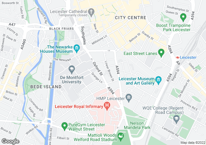 Map for Oxford House,