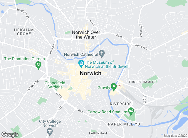 Map for Chesterton Humberts, Norwich