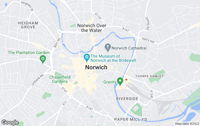 Map for Humberts, Norwich