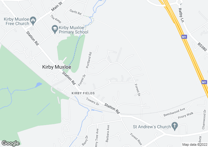 Map for Elmcroft Forest Drive, Kirby Muxloe, Leicester LE9