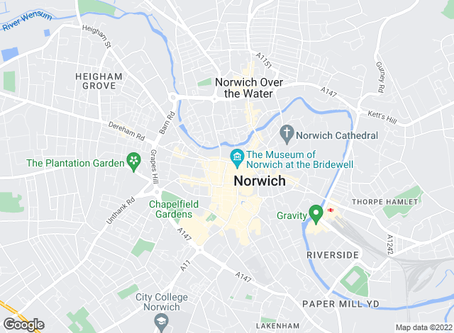 Map for Abbotts, Norwich