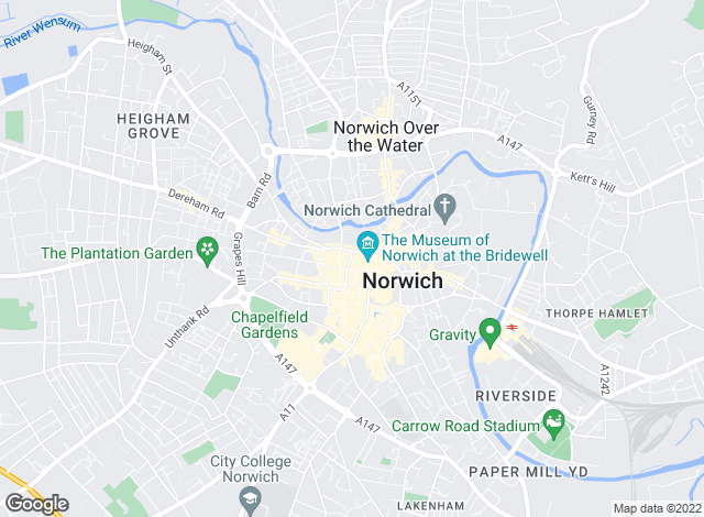 Map for Abbotts Lettings, Norwich