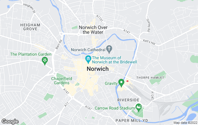 Map for Allgood & Davey, Norwich
