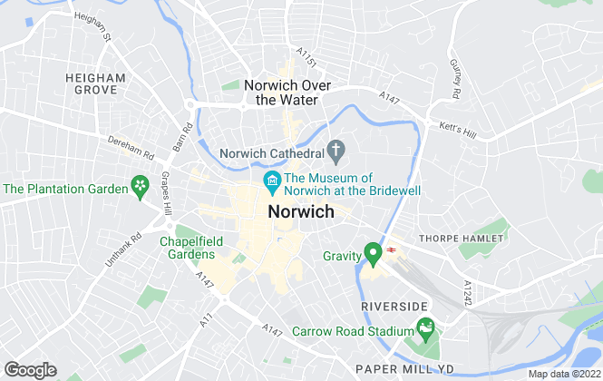 Map for Sowerbys, Norwich