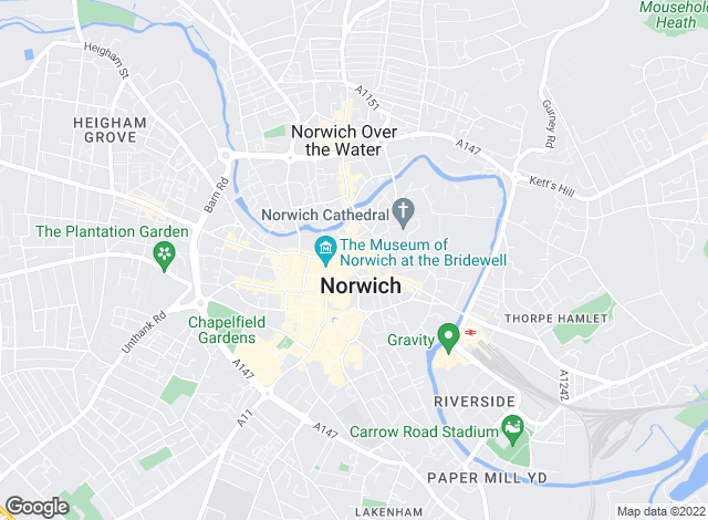 Map for Jackson-Stops & Staff, Norwich