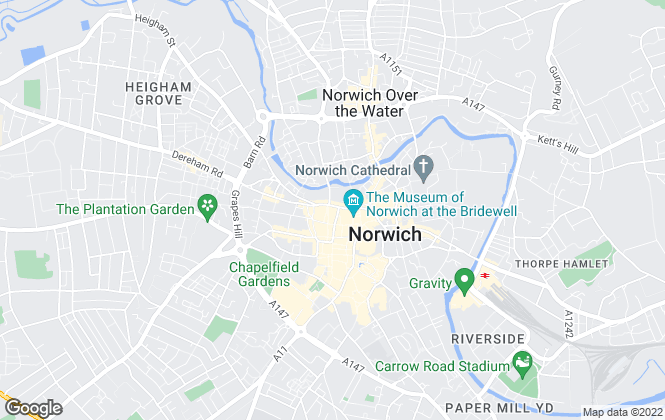Map for Premier Properties, Norwich