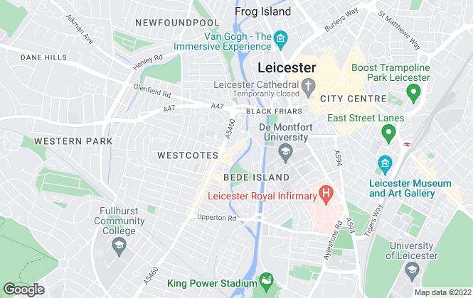 Map for Barkers, Leicester - West End Sales & Lettings
