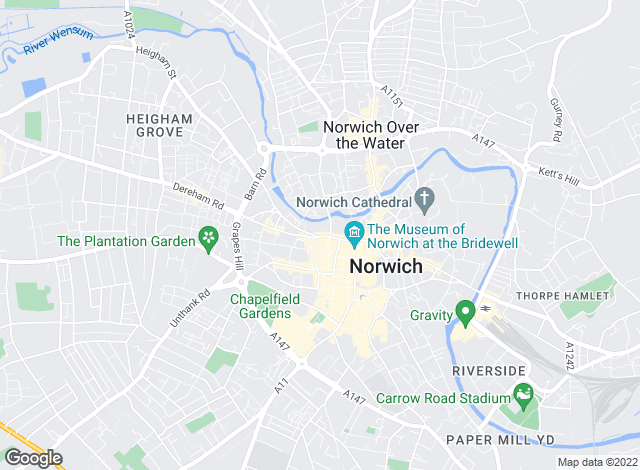 Map for Steggles-Larner Property Management, Norwich