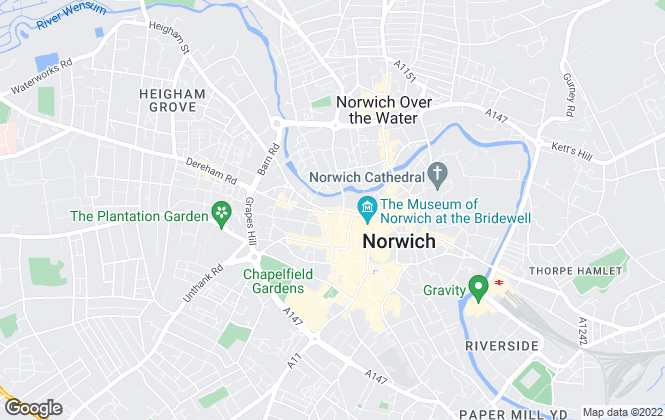 Map for Abode Estate Agents (Norwich) Ltd, Norwich