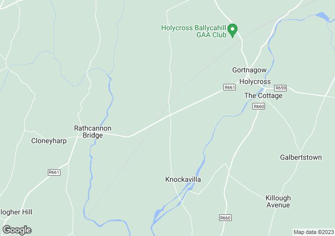 Map for Bohernacrusha, Holycross, Thurles, Co. Tipperary