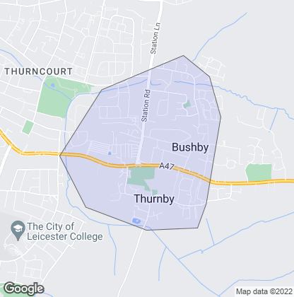 Map of property in Thurnby