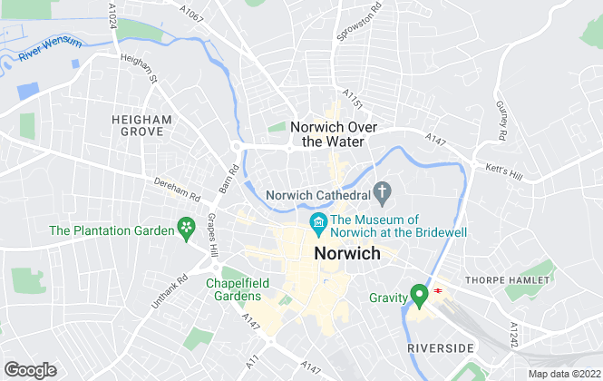 Map for St George's Works , Norwich