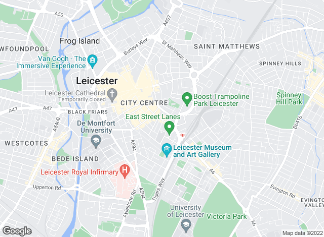 Map for Readings Property Group, Leicester