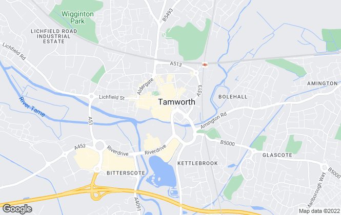 Map for Belvoir Lettings, Tamworth