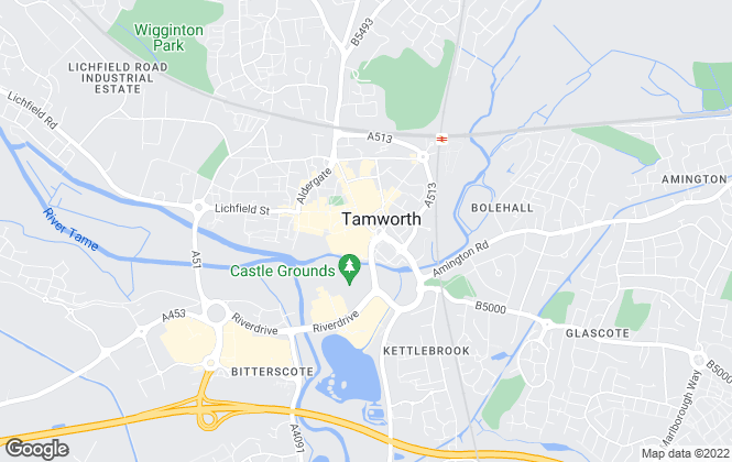 Map for Belvoir! Lettings, Tamworth