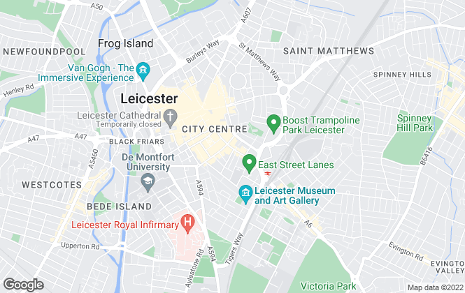 Map for James Sellicks Estate Agents, Leicester