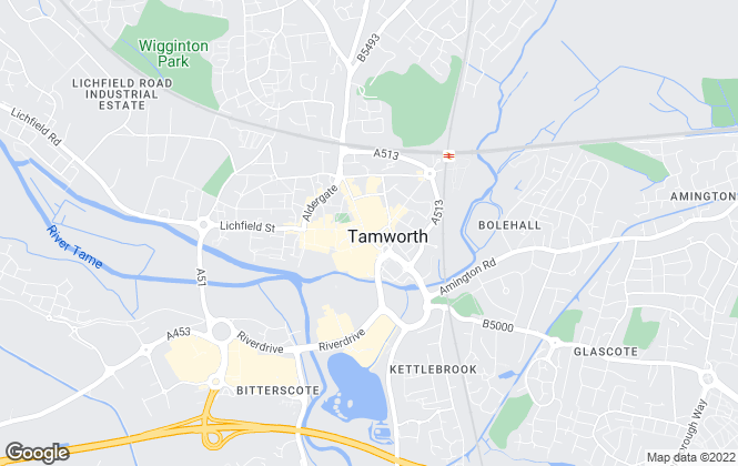 Map for Green & Co, Tamworth