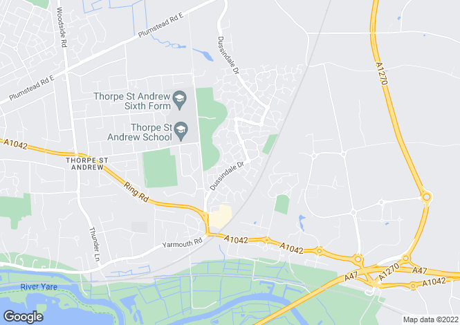 Map for Ireton Close, Dussindale, Norwich, Norfolk, NR7