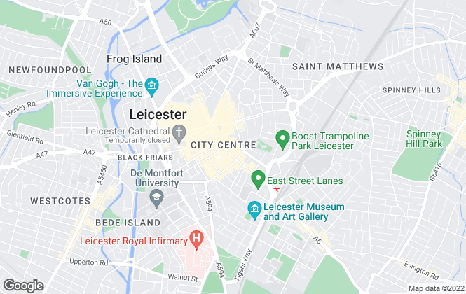 Map for Harrison Murray, Leicester - Lettings