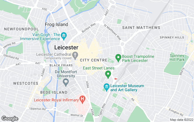 Map for Harrison Murray, Leicester