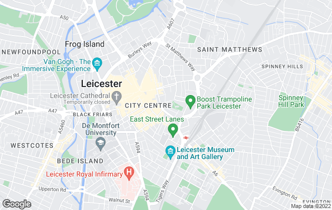 Map for Andrew Granger & Co, Leicester