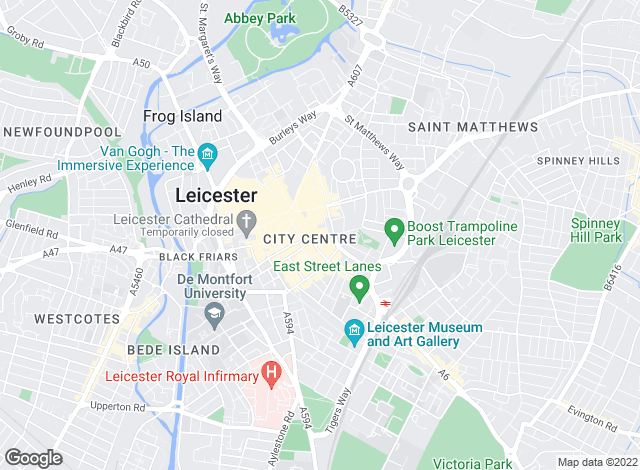 Map for Connells, Leicester