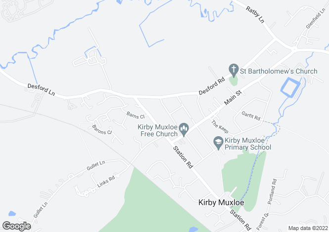 Map for Ladysmith Road, Kirby Muxloe