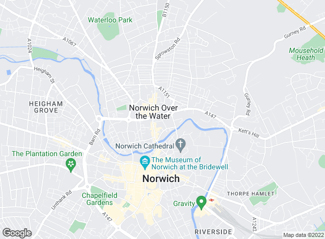 Map for Abbotfox, Norwich