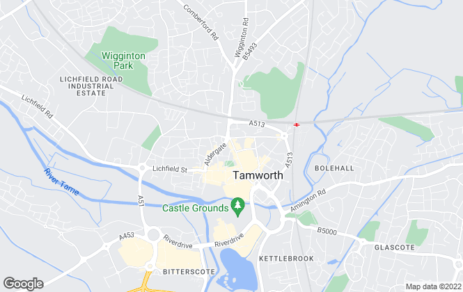 Map for Martin & Co, Tamworth - Lettings