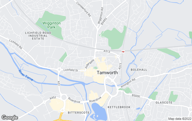 Map for Martin & Co, Tamworth - Lettings & Sales