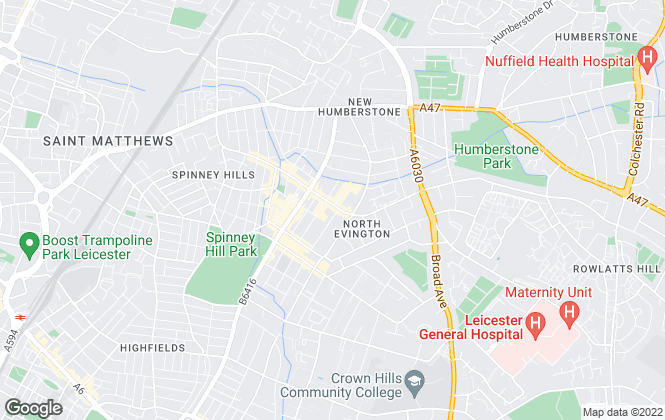Map for Greens Estate Agents, Leicester