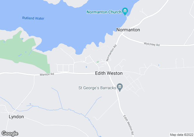 Map for Edith Weston