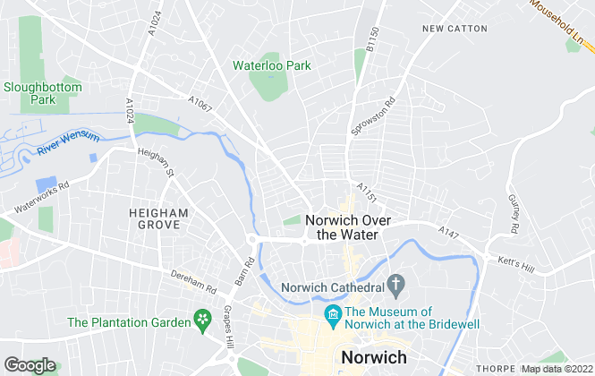 Map for Wensum Property Management , Norwich