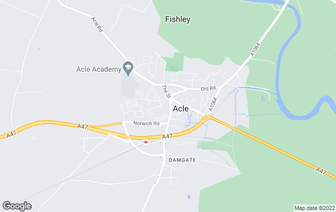 Map for The Property Shop, Acle