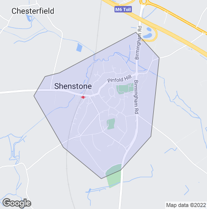 Map of property in Shenstone