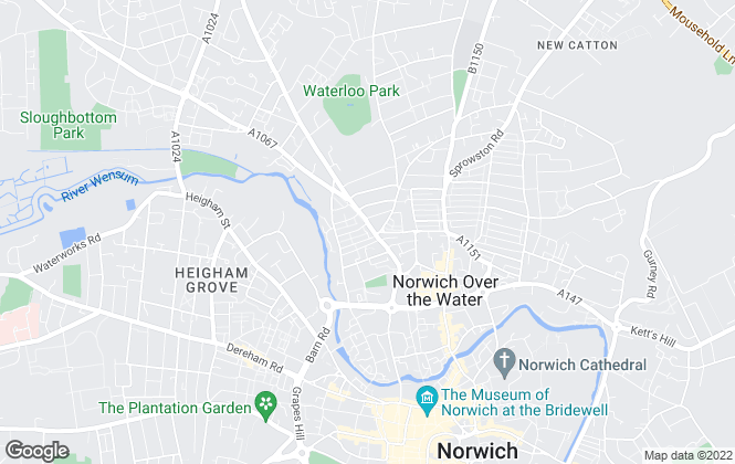Map for MPJ Property Solutions, Norwich