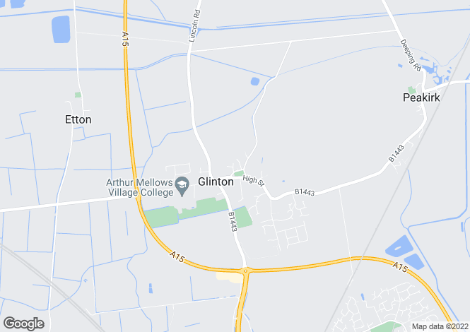 Map for The Green, Glinton, Peterborough